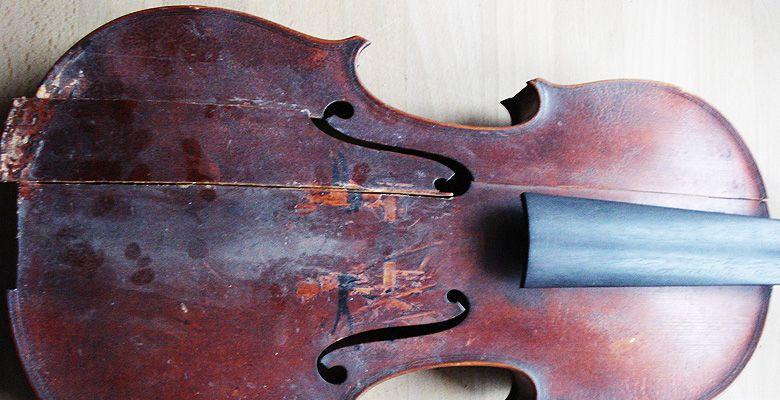 Eva Lämmle Geigenbau - Restaurierung eines Dachbodenfundes