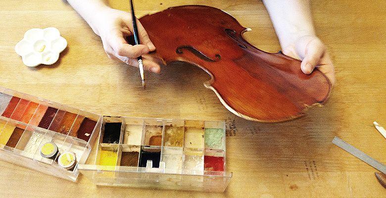 Eva Lämmle Geigenbau - Schonung der Originalsubstanz