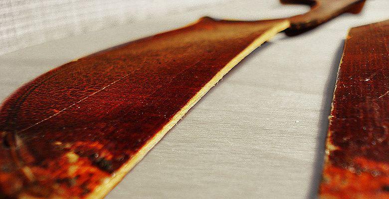 Geige Restauration Deckenriß gereinigt