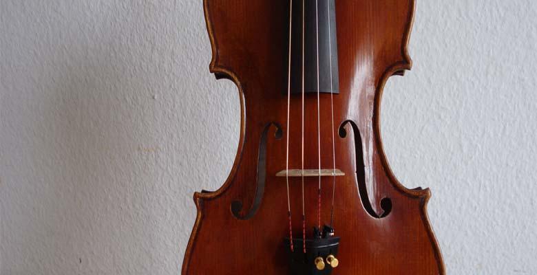 Geige von vorne