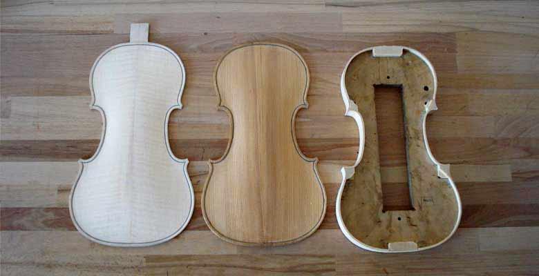 Geige-Decke-Boden-Zargenkranz