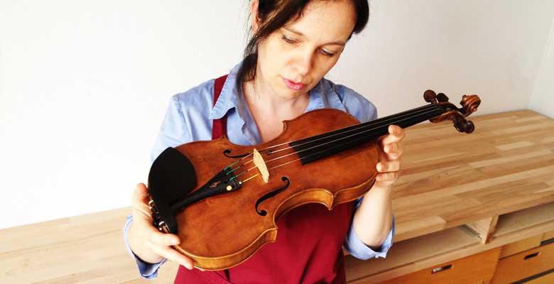 Klangeinstellung von Geigen,Begutachtung und Bestandsaufnahme