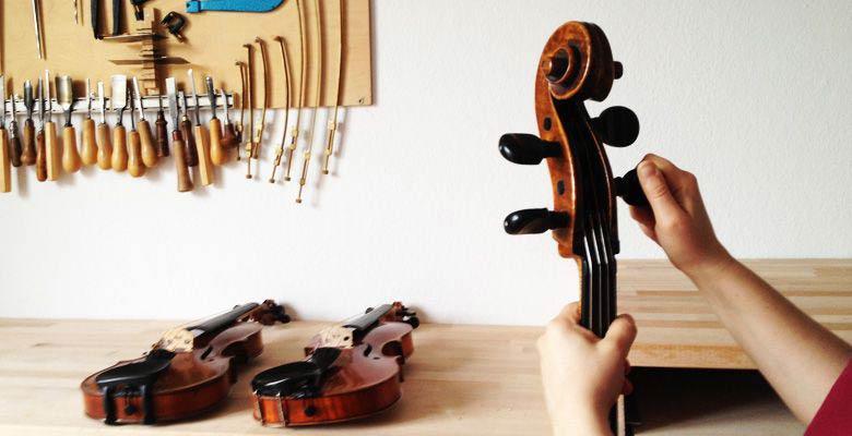 Pflege von Streichinstrumenten