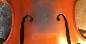 Geige-Decke-verschmutzt